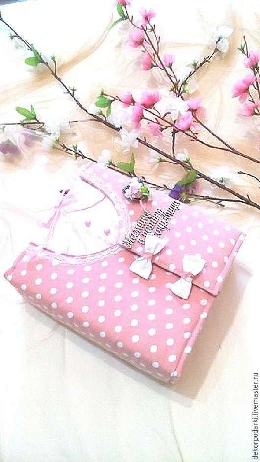 """Подарки для новорожденных, ручной работы. Ярмарка Мастеров - ручная работа. Купить """"Мамины и папины сокровища"""" для девочки. Handmade. Бледно-розовый"""