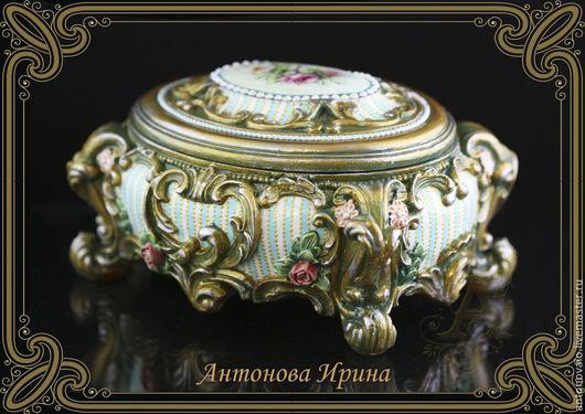 Шкатулка- `Рококо` ,для дома ручной работы.Антонова Ирина.Ярмарка Мастеров.