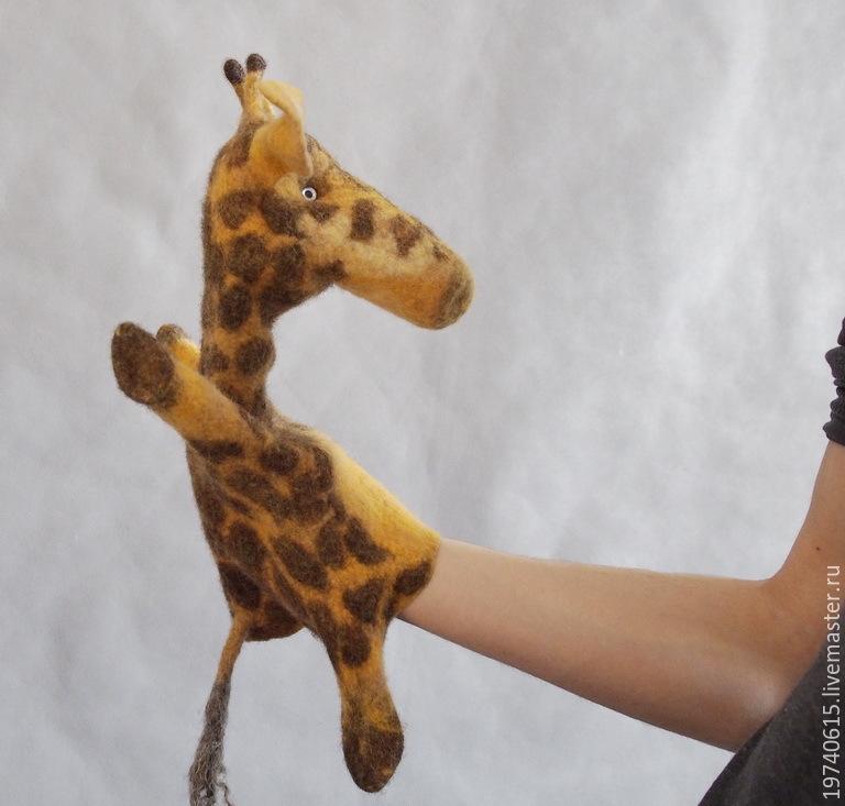 Giraffe. Glove puppet. Bi-BA-Bo, Puppet show, Moscow,  Фото №1