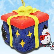 Сувениры и подарки handmade. Livemaster - original item Christmas box with gifts, bells. Handmade.