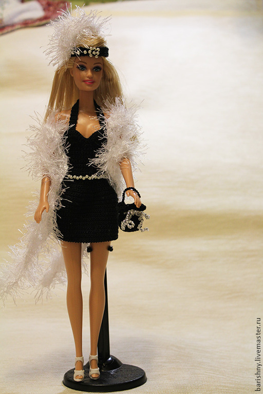 Одежда для кукол ручной работы. Ярмарка Мастеров - ручная работа. Купить Коктельное платье для Барби. Handmade. Вязание крючком