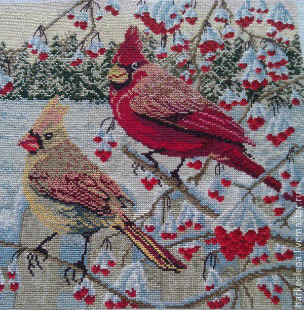 Вышивка крестом кардинал