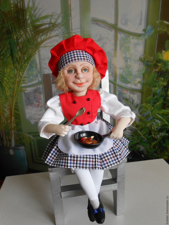 GIRL COOK textile doll, Dolls, Zelenograd,  Фото №1