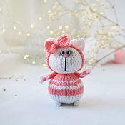 Куклы и игрушки handmade. Livemaster - original item Cat with a bow. Handmade.