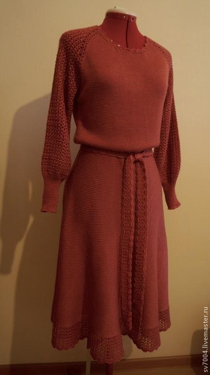 """Платья ручной работы. Ярмарка Мастеров - ручная работа. Купить Платье """"Коралл"""". Handmade. Коралловый, платье вязаное, Платье нарядное"""