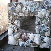 """Для дома и интерьера ручной работы. Ярмарка Мастеров - ручная работа Зеркало """"Дикий пляж"""". Handmade."""