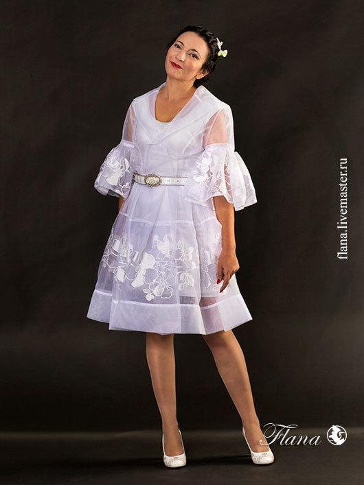 Вечернее платье из органзы в стиле Диор. Индивидуальный пошив, Флана