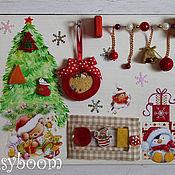 Куклы и игрушки ручной работы. Ярмарка Мастеров - ручная работа Новогодний бизиборд. Handmade.