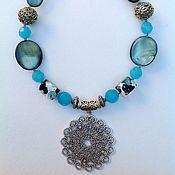 Украшения handmade. Livemaster - original item Set of pearl and glass in the Oriental style Gardens of Neptune.. Handmade.