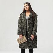Одежда handmade. Livemaster - original item Alpaca oversized coat with animalistic print. Handmade.