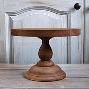 handmade. Livemaster - original item Copy of Wood Cake Stand 24 cm Cake platte. Handmade.