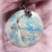 Украшения handmade. Livemaster - original item Pendant with painted mother of pearl