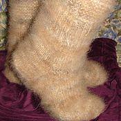 Аксессуары handmade. Livemaster - original item Comfortable women`s socks from down collie. Handmade.