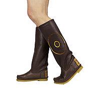 Обувь ручной работы handmade. Livemaster - original item STELLA brown / sheepskin fur Boots / 37 in stock. Handmade.