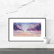 Картины и панно handmade. Livemaster - original item Watercolor Clouds. Handmade.