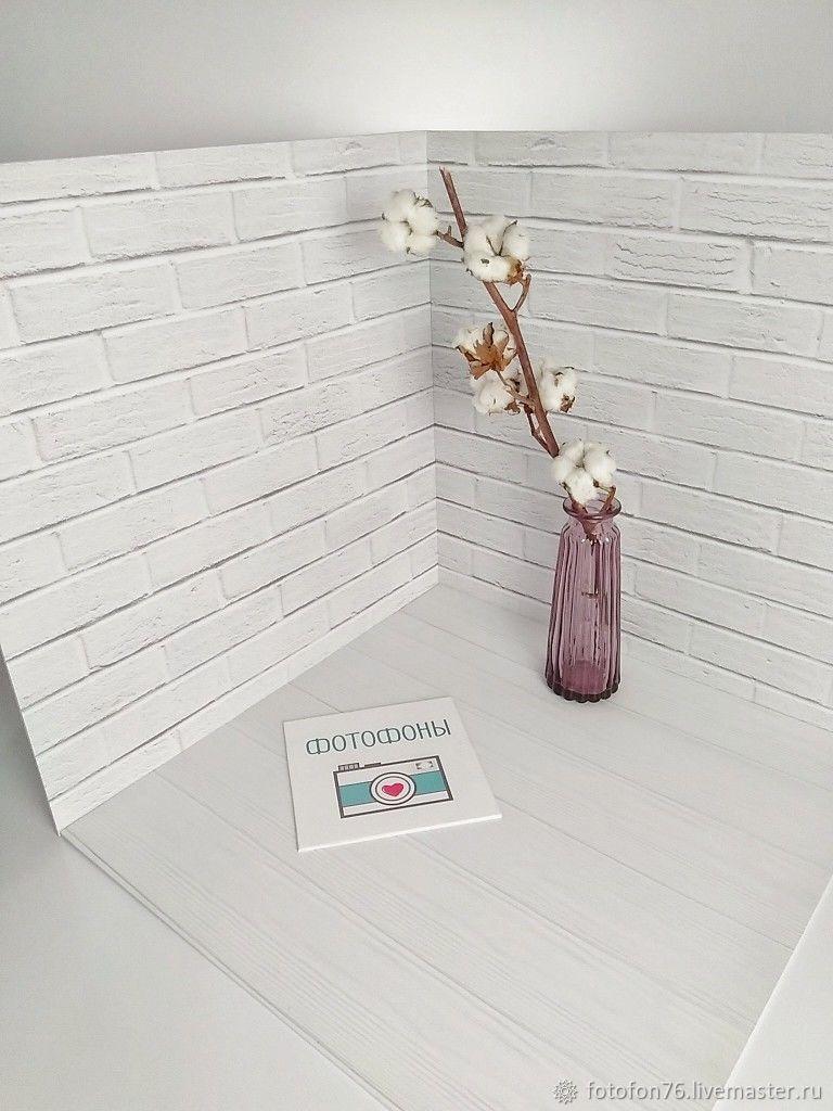3D Фотофон Белый кирпич 50х50х50 см, Фото, Ярославль,  Фото №1