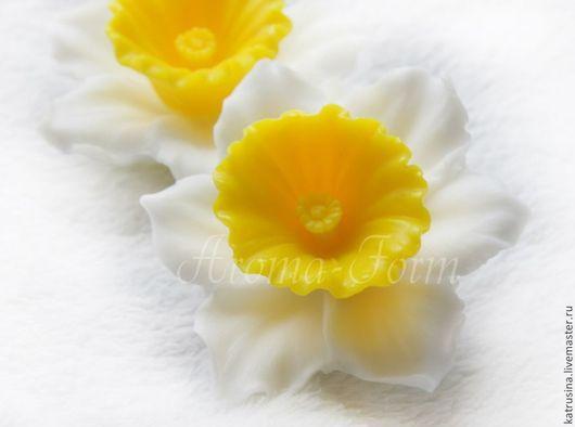 """Мыло ручной работы. Ярмарка Мастеров - ручная работа. Купить Мыло """"Нарцисс"""". Handmade. Желтый, букет нарциссов, весенние цветы"""