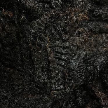 Materials for creativity handmade. Livemaster - original item Fleece Gotland Black with gray. New Zealand. 50 grams. wool for felting. Handmade.
