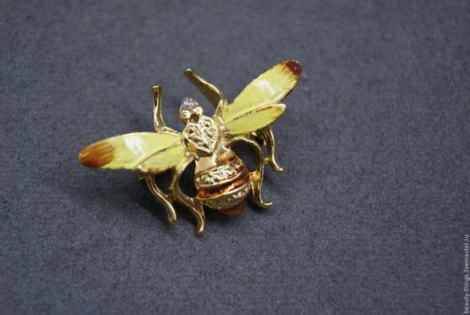 Винтажные украшения. Ярмарка Мастеров - ручная работа. Купить Винтажная брошь пчелка. Handmade. Винтаж, винтажная брошь, пчела
