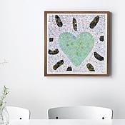 """Картины и панно ручной работы. Ярмарка Мастеров - ручная работа Мозаичное мини-панно """"Звонкое сердце"""". Handmade."""