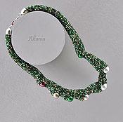 Necklace handmade. Livemaster - original item chameleon. Dawn. choker. Handmade.