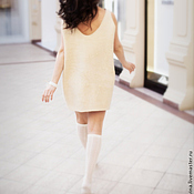 """Одежда ручной работы. Ярмарка Мастеров - ручная работа """"Лолита"""" платье - мини нуно-войлочное. Handmade."""