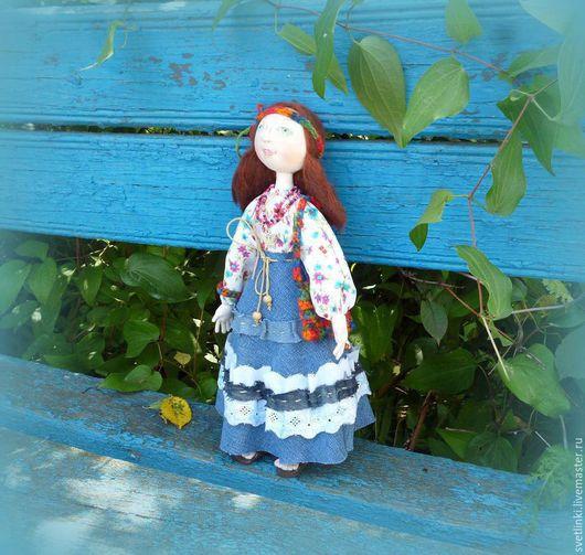 Текстильная кукла хиппи, ручная авторская работа. Светлинки от Даши. Ярмарка мастеров.