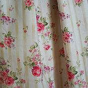 Одежда ручной работы. Ярмарка Мастеров - ручная работа Юбка длинная,летняя,из хлопка,с винтажными розами. Handmade.