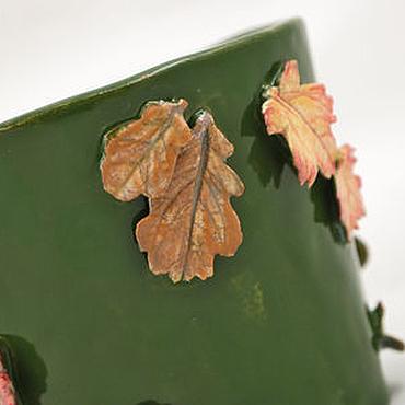 Flowers and floristry handmade. Livemaster - original item Flower pot Fall. Handmade.
