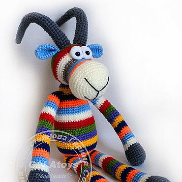 Куклы и игрушки ручной работы. Ярмарка Мастеров - ручная работа Козерог Zебровидный. Handmade.