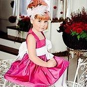 Работы для детей, ручной работы. Ярмарка Мастеров - ручная работа Фуксия нарядное платье. Handmade.