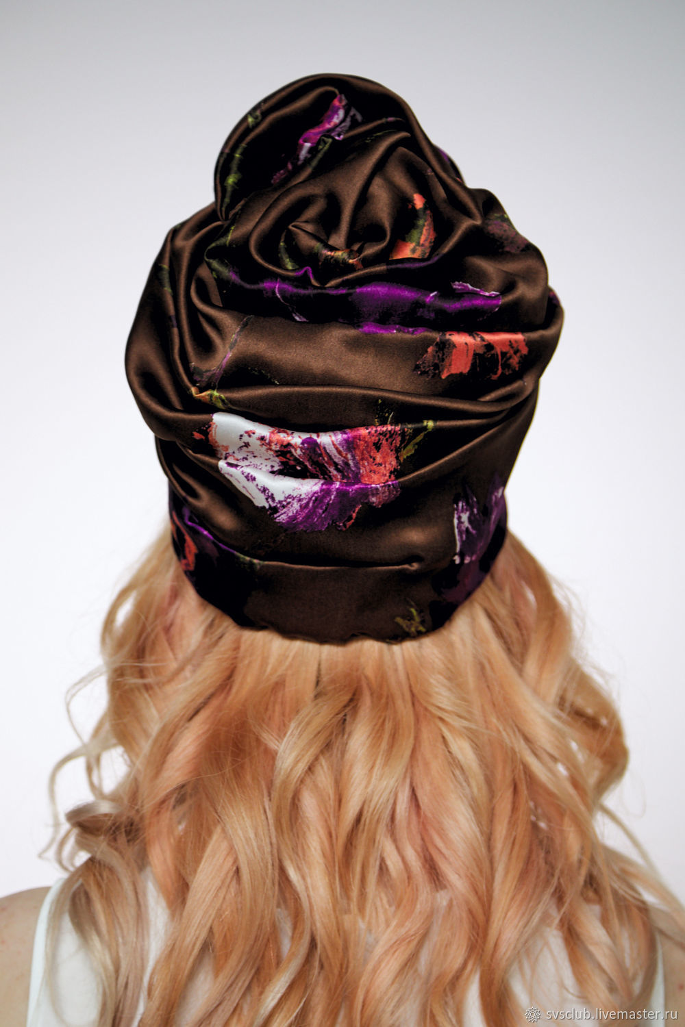 d12874c6af6 Hats handmade. Turban hat hijab millinery Brown with flowers. TURBAN SVS. Online  shopping Hats handmade. Order ...
