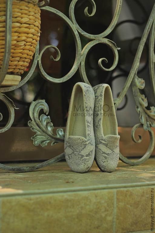 """Обувь ручной работы. Ярмарка Мастеров - ручная работа. Купить """"Miracle"""" туфельки балетки валяные. Handmade. Бежевый, войлочные туфли"""