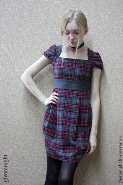 cdbc8eeab43 Шерстяное платье в клетку – купить в интернет-магазине на Ярмарке ...