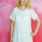Одежда handmade. Livemaster - original item Nightgown of Batiste,Lisa the gift of a friend. Handmade.
