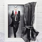 Картины и панно handmade. Livemaster - original item Volumetric picture of the skin Man of my dreams. Panels of leather.. Handmade.