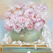 Pictures handmade. Livemaster - original item Oil painting Peonies.love. Handmade.