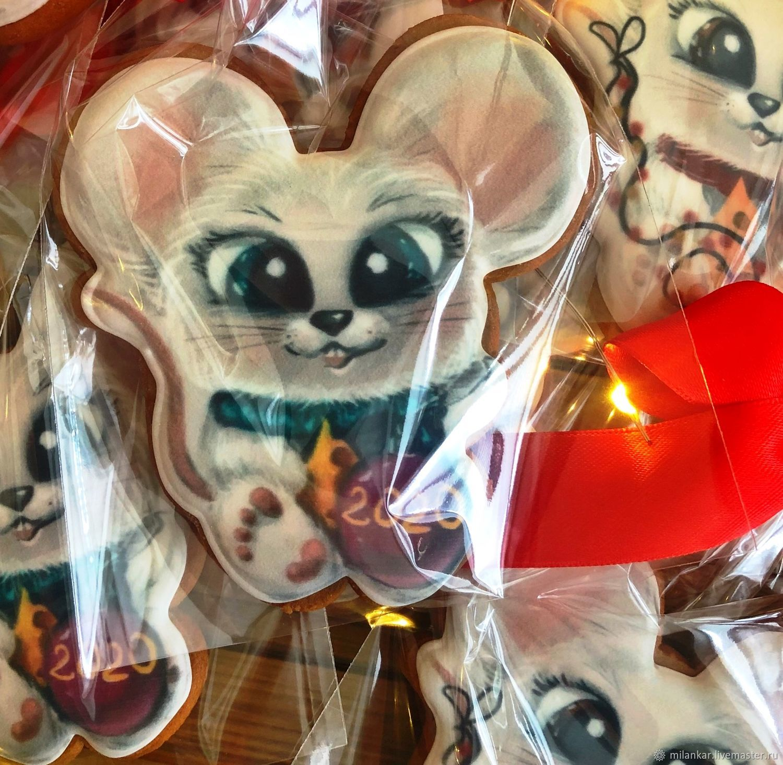 Новогодние игрушки. Пряник милая мышка, Набор пряников, Москва,  Фото №1
