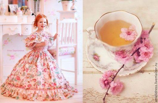 Одежда для девочек, ручной работы. Ярмарка Мастеров - ручная работа. Купить нарядное платье. Handmade. Бледно-розовый, кружева, принцесса