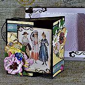 Открытки ручной работы. Ярмарка Мастеров - ручная работа Открытка ручной работы в коробке Ретро. Handmade.