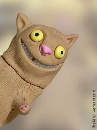 """Компьютерные ручной работы. Ярмарка Мастеров - ручная работа. Купить Флешка """"Кот мартовский приветливый"""". Handmade. Бежевый, чокнутый, подарок"""
