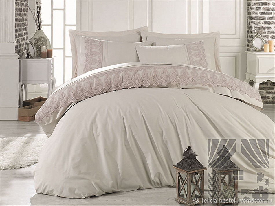'Lace classic ' - satin bed linen with lace !, Bedding sets, Cheboksary,  Фото №1