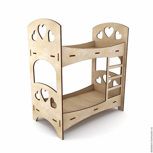Куклы и игрушки ручной работы. Ярмарка Мастеров - ручная работа. Купить КМ-30-0123  кровать двухъярусная. Handmade.