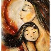 """Картины и панно ручной работы. Ярмарка Мастеров - ручная работа Картина из шерсти """"Лики женственности"""". Handmade."""