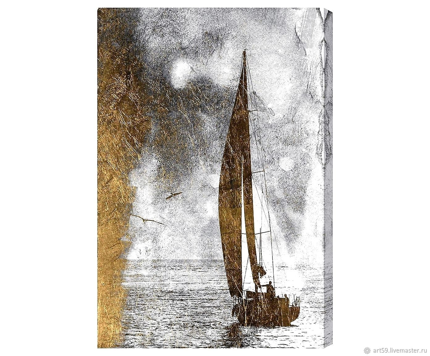 Golden series of paintings: Sailboat, Pictures, St. Petersburg,  Фото №1