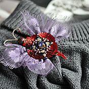Украшения handmade. Livemaster - original item Purple Swallowtail Brooch