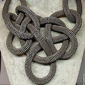 Украшения handmade. Livemaster - original item Large beaded necklace knot. Handmade.