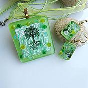 Украшения handmade. Livemaster - original item Set of glass ornaments Spring has come! Copyright glass. Fusing. Handmade.