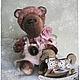 Мишки Тедди ручной работы. Ярмарка Мастеров - ручная работа. Купить Тимоша - коллекционный плюшевый медведь. Handmade. Коралловый, медвежонок
