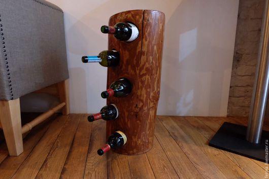 """Мебель ручной работы. Ярмарка Мастеров - ручная работа. Купить Винная полка """"С-300"""" WoodFood. Handmade. Полка из дерева"""